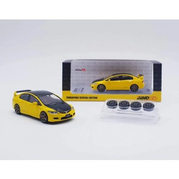 Inno64 Honda Civic Type-R FD2 Yellow Singapore Special Edition