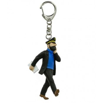 Haddock with newspaper keyring (large)