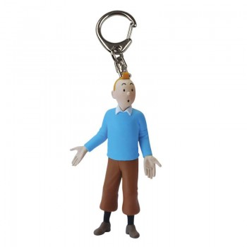 Tintin in Blue Jumper keyring (large)
