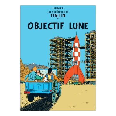 Destination Moon Tintin Poster (framed)