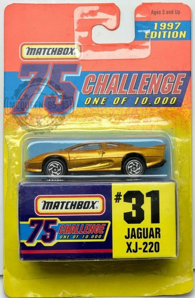 Matchbox 75 Challenge Jaguar XJ-220 #31 1997 Edition