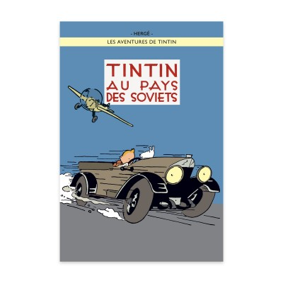 Tintin in the Land of the Soviets Poster (framed)